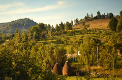 Honey (Marjarah) Tags: sunset warm afternoon village rustic hills romania hunedoara