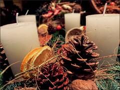 Adventskranz | Advent Wreath (Andr-DD) Tags: christmas orange weihnachten candles advent adventwreath adventskranz kerzen fircone apfelsine