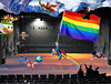 Catch Photo #30H (gaymay) Tags: california gay sky mountain snow love happy james robot flying rainbow globe bowser desert stage flag jerry palmsprings mario superman donkeykong rainbowflag skydiver auditorium jetpack triad supergay darek trapezeartist mysterysciencetheater3000 catchphoto