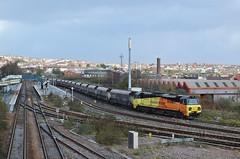 70804 at Barry. 8/12/15 (Nick Wilcock) Tags: wales exeter barry coal railways freight 708 valeofglamorgan colas 4b70 70804 class70 colasrail colasrailfreight barrytouristrailway