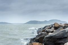 Harsh Weather (johanbe) Tags: ocean sea storm rain grey rocks cloudy wave windy splash regn hav vgor mulet kunglv klippor grtt tjuvkil harshweather hrtvder