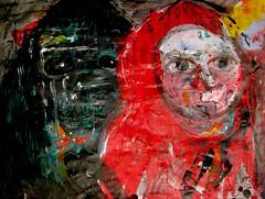 Two Forest Men (giveawayboy) Tags: pencil drawing sketch art acrylic paint painting fch tampa artist giveawayboy billrogers forest men wmotf wild man wildman sasquatch