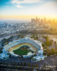 Dodger Stadium (JAKE PINEDA) Tags: anthelion helicopters photography flight aerial photographer los angeles california nikon d810 nikkor 2485 f3545 1424 f28 hdr downtown cityscape dodgers baseball stadium