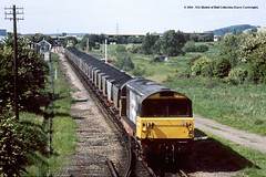 26/05/1989 - Dinnington Colliery Junction, Rotherham, South Yorkshire. (53A Models) Tags: britishrail railfreight class58 58026 diesel freight dinningtoncollieryjunction rotherham southyorkshire train railway locomotive railroad