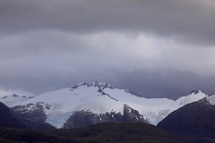 Glacier Alley Beagle Channel Chile South America (eriagn) Tags: glacieralley chile southamerica fiord sea seapassage beagle ngairehart ngairelawson travel photography adventure history mountainous charlesdarwin overcast drizzle beaglechannel moody sailing exploration historical eriagn landscape mountain hill mountainside ridge cloud peak snow glacier glaciated glacial rocky steep cold icefield
