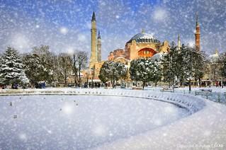 White Bride Hagia Sophia Istanbul