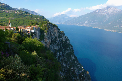 View from Terrazza del Brivido. Tremosine. Lago di Garda. - a photo ...