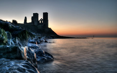 Reculver towers (Aliy) Tags: reculvertowers reculver tower towers hernebay evening sunset kent rocks sea coast redsky ruin ruinedchurch ruinedtowers stmary stmarys