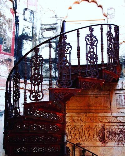 Escalier, Fort de Mehranghar, Jodhpur, Janvier 2017