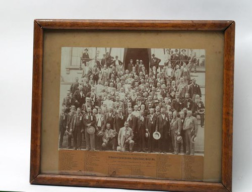 1896 CONFEDERATE REUNION PHOTOGRAPH Mosby's Men, 43rd Virginia Cavalry Battalion with identification ($1,064.00)
