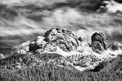 The Rocks are not moving... (Ody on the mount) Tags: anlässe berge dolomiten em5 fototour gipfel himmel italien le langzeitbelichtung mzuiko40150 nd omd schnee südtirol urlaub winter wolken bw monochrome sw auronzodicadore veneto it