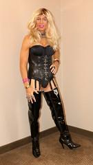 Mistress Cortney - Blonde Domme Goddess in Leather and Black Thigh High Boots (Cortney10100) Tags: cortney tv tg tgirl tgurl transgender heels highheels femme tranny trannie transsexual transvestite crossdress crossdresser blonde stilettos domme leather boots thigh