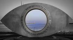 Seen In Colour (MMiPhoto) Tags: southshields pier coast beach sand red eye publicart fuji xt1 xf35