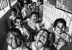 exuberance (Dean Forbes) Tags: children students india rural tamilnadu school bw