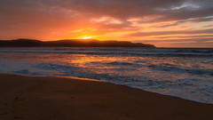Seascape Sunrise (Merrillie) Tags: uminabeach sand sunrise nature australia mountains nswcentralcoast newsouthwales sea nsw beach clouds centralcoastnsw umina seascape photography water oceanbeach waterscape dawn landscape sky outdoors