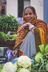 Day 19 - People on the road - 365 Portrait Project (Tarang Jagannath) Tags: woman vendor vegetables fresh portrait 365portrait colours