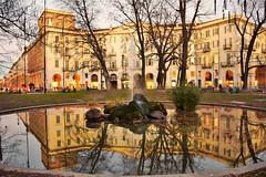 Reflections (only_sepp) Tags: torino fontana riflessi centro portanuova acqua pzzacarlofelice