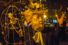 trump donald protest art tompkins square park new york city nyc king eagle bird politics america usa freedom liberty