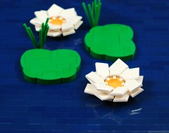 Happy Valentine's day (CeciΙie) Tags: lego moc lily lilies waterlily waterlilies flower