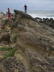 Xiaoyeliu park (Sergiy Matusevych) Tags: taitung tofu doufu rock ocean park george maya kids taiwan travels xiaoyeliu olympusmzuikodigitaled1240mmf28pro