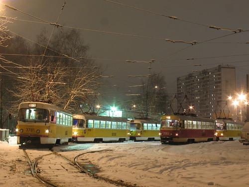 Moscow tram Tatra T3SU 3781