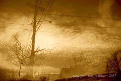 Night Divides the Day (Bets<3 Fine Artist ~Picturing Light ~ Blessings ~~) Tags: maine sky clouds architecture landscape sepia overlay