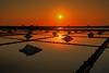Salt evaporation pond (arcaswiss) Tags: salt sunset hdr saltevaporationpond sun sunlight