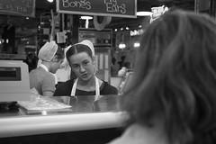 Reading Terminal Market, 2016 (Alan Barr) Tags: philadelphia 2016 readingmarket readingterminalmarket market amish street sp streetphotography streetphoto blackandwhite bw blackwhite mono monochrome candid people olympus penf city
