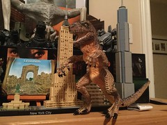 Destroyer of New York (splinky9000) Tags: kingston ontario trendmasters godzilla zilla sony 1998 toys action figures baby lego new york city architecture empire state building one world trade center freedom tower