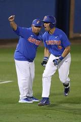 Jonathan India Home Run (dbadair) Tags: miamihurricanescanesvsfloridagatorsgainesvillesecaccflfloridamckethanstadiumbaseballfridaybradysingerfrankrubiojonathanindiamarkkolozsvary gainesville florida sec acc baseball ncaa 2017 gators canes 7d2 7dm2 college world series winners first national title omaha