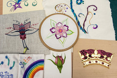 DSC_0709 (surreyadultlearning) Tags: embroidery sewing adulteducation surrey camberley art craft tutor uk painting calligraphy photography