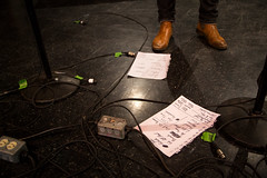 We Banjo 3's set list after the show. (photo: Steve Wadden)