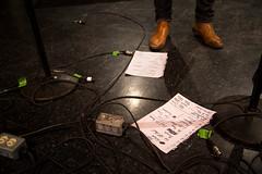 We Banjo 3's set list after the show. (photo: Steve Wadden)