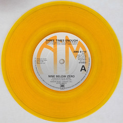 Nine Below Zero - Three Times Enough (Leo Reynolds) Tags: xleol30x squaredcircle 45rpm record single yellow colour coloured vinyl platter disc 7inch sqset120 canon eos 40d xx2015xx sqset