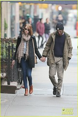 Andrew Garfield, Emma Stone (luulinh61) Tags: newyorkcity usa newyork boyfriend scarf walking girlfriend couple candid pda jeans dating trousers holdinghands stroll emmastone holdhands winterclothing denimjeans denimpants andrewgarfield