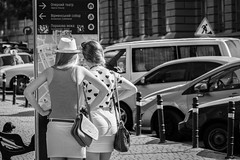 Where to go? (bernhard.frank) Tags: girls lviv ukraine tourists orientation navigation travelers wheretogo