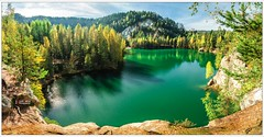 Rock City Czech Republic (Leszek W.) Tags: panorama lake holiday mountains nature landscape europe exterior outdoor czechrepublic serene d90 czechy nikond90 tokina1116mm