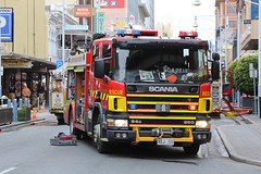 Hindley Street looking east (adelaidefire) Tags: fire south australian service sa metropolitan mfs samfs
