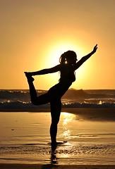 Yoga on the Beach (Martin Pokora) Tags: sunset sea woman sexy beach girl yoga sand sardinia dreads dreadlock holka divka