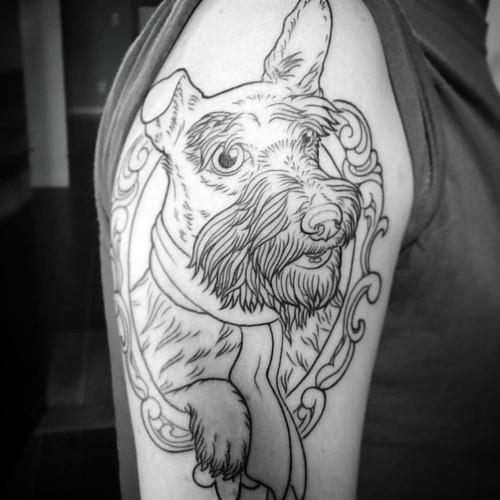 20649316213 5f9d4d3521 - Neo Traditional Tattoo Dog