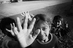 In her eyes (Galia Nazaryants) Tags: blackandwhite india monochrome children village rajasthan kanoi