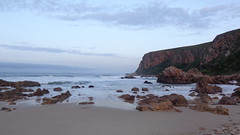Morning at Andr Huts - Otter Trail (Rckr88) Tags: ocean morning travel sea sun mountains beach nature water clouds sunrise southafrica outdoors coast sand waves wave cliffs coastal coastline wilderness gardenroute tsitsikamma easterncape cloudysky ottertrail rockycoastline tsitsikammanationalpark