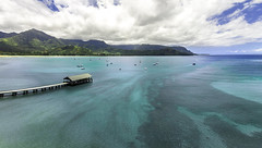 Hanalei Bay Aerial (mrubenstein01) Tags: ocean mountains beach hawaii aerial tropical hanalei drone hanaleibay djiphantom2visionplus