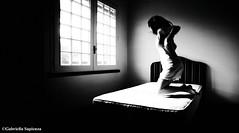 (Eclectic G.) Tags: light woman window myself jumping bedroom empty notsleeping goingdown absence mattres