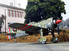 "1:72 Fokker D.XXI-5; aircraft ""440"" of Norwegian Army Air Service's Jagevingen; Fornebu, near Oslo, Norway; April 1940 (Whif/modified PM Models kit) (dizzyfugu) Tags: norway model force conversion mercury britain pegasus aviation air bob battle norwegian kit pm pioneer 172 xxi fictional fokker whatif modellbau d21 spat whif dxxi bristiol dizzyfugu jagevingen"
