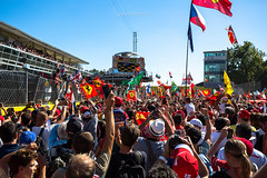 Track invasion - 2015 Italian Grand Prix (garyhebding) Tags: italy italia f1 ferrari formula1 canonef1740mmf4lusm monza tifosi scuderiaferrari trackinvasion canoneos5dmarkiii 2015italiangrandprix