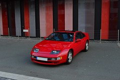 ZX in 2015 (v6rev) Tags: red rot car nissan twin turbo z rood sportscar v6 rossa machina z32 zx300