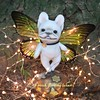 Firefly Fairy Frenchie (French Bulldog Works) Tags: sculpture dog pet white cute girl face butterfly puppy french fire lights one fly wings memorial little francaise ooak cream bulldog creme plush kind fairy works frenchie frenchbulldog custom figurine bully dasha firefly batdog smooshy flatface bouledogue fbw goux batpig