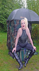 Bear Park County Durham (team stalker) Tags: woman lake sexy stockings panties fishing shiny boots blonde fishnets carp satin milf pvc sexylegs carpie