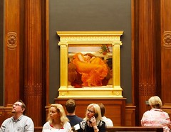Riverting!!!! (ZoK) Tags: sleeping orange woman art museum audience iconic flaming flamingjune vistors frickcollection